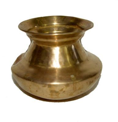 Antique Vintage Brass Holy Water Pot In Beautiful Shape.