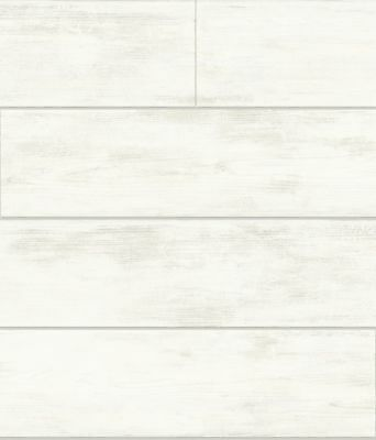 Magnolia Home White Shiplap Wood on Sure Strip Wallpaper MH1560