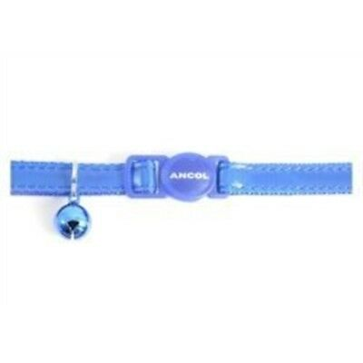 Ancol Gloss Reflective Cat Collar With Safety Buckle Blue - Bell