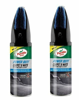 2 x Turtle Wax Power Out Car Interior Carpet Cleaner Stain Odour Remover