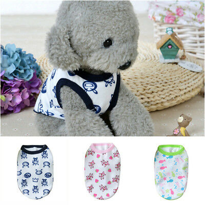 Animal Pattern Small Pet Dog Clothes Vest Puppy Kitten T-Shirt Summer Apparel