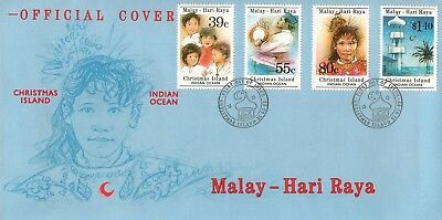 L8915sbs Christmas Island First Day Cover FDC 1989 Malay Hari Raya