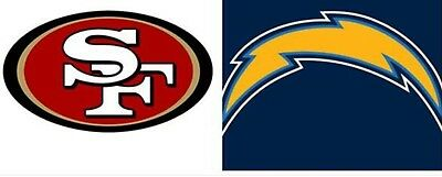 Image result for San Francisco 49ers vs. LA Chargers
