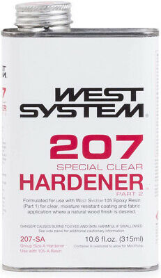 West System 207 Special Clear Epoxy Hardener (.66 pt)