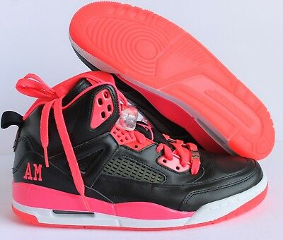 45f3c7014f88 NIKE AIR JORDAN SPIZIKE iD BLACK-HOT PINK-WHITE SZ 9  605236-