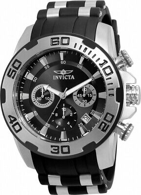 Invicta Men's Pro Diver Chrono Stainless Steel Black Silicone Watch 22311