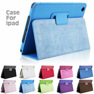 New Smart Stand Leather Magnetic Case Cover For Apple iPad 4 3 2 mini Air 2 Pro