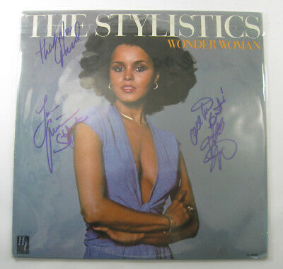 The Stylistics Signed LP Record Album Wonder Woman with 3 Autos DS18567