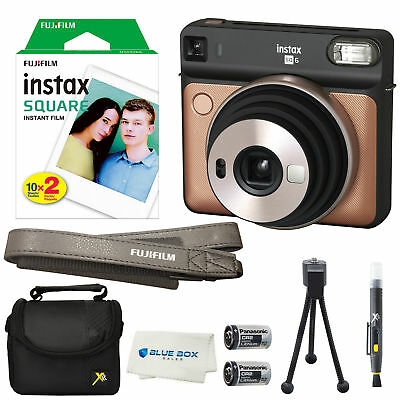 Fujifilm Instax SQUARE SQ6 Instant Film Camera(Blush Gold)+20 Film Sheets & More