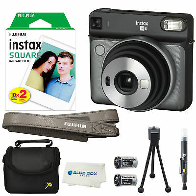 Fujifilm Instax SQUARE SQ6 Instant Film Camera (Graphite Gray) +20 Film Sheets