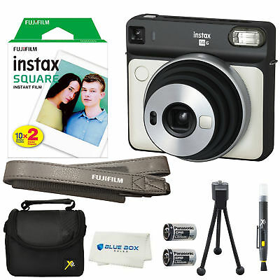 Fujifilm Instax SQUARE SQ6 Instant Film Camera(Pearl White)+20 Film Sheets &More
