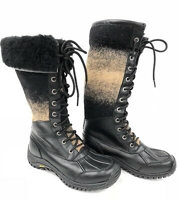 767d36418ce UGG ADIRONDACK TALL 1013508 W/ Black Women's winter boot snow Boot ...