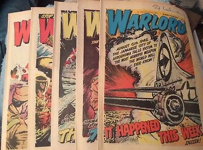 5 Vintage 'Warlord Comics' Issues # 254, 255, 256, 257, 258, (all 1979)