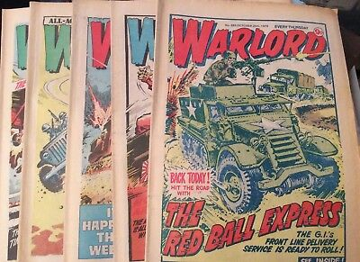 5 Vintage 'Warlord Comics' Issues # 265, 266, 267, 268, 269, (all 1979)