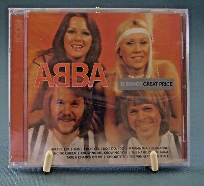ABBA Icon Music CD New Sealed 11 Songs Waterloo Dancing Queen Mamma Mia Fernando