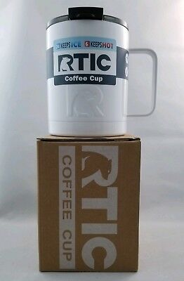 RTIC Coffee Cup-New-White-stainless steel, double wall vacuum insulated