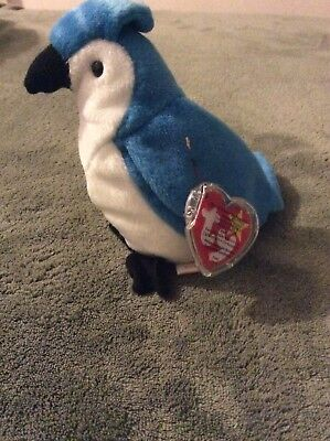 Ty Beanie Baby Rocket The Blue Jay 1998 Retired