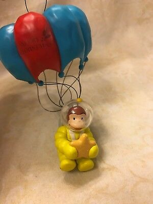 Curious George Monkey Astronaut with Star and Parachute Christmas Ornament