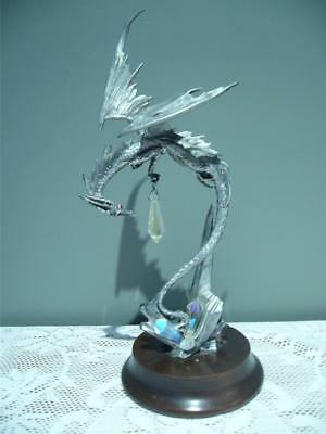 Vintage Perth Pewter Dragons Flight Figurine - James Lane Casey - #5268 - Vgc