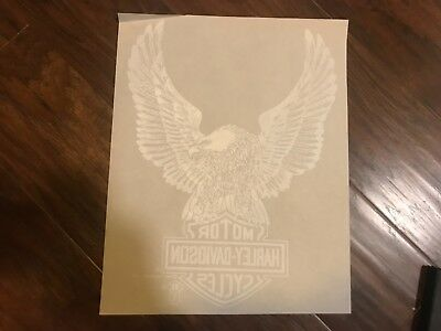 vintage 1980s Harley Davidson iron on t shirt heat transfer eagle and shield
