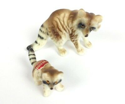 Miniature Raccoon Porcelain Vintage Bone China Made in Japan