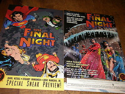 The Final Night lot of 2 DC promo/Preview comics, 1996, Shazam