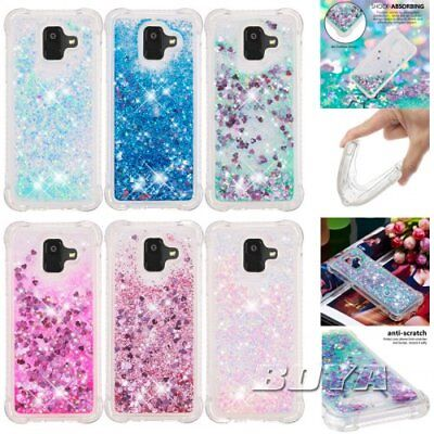For Samsung A6/A6+(2018) glitter shockproof phone case dynamic quicksand bling