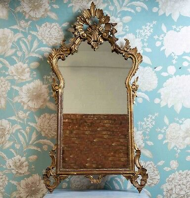 Stunning Collectible Antique Italian Giltwood Florentine Mirror -RARE!