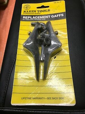 NEW NOS Klein Tools No. 7 Replacement Gaffs Tree Climbers Spikes-FAST SHIPPING!