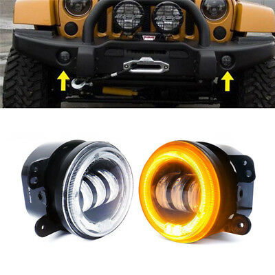 2PCS 4inch 30W LED Fog Light  Lamps For 1997-2017 Jeep Wrangler JR
