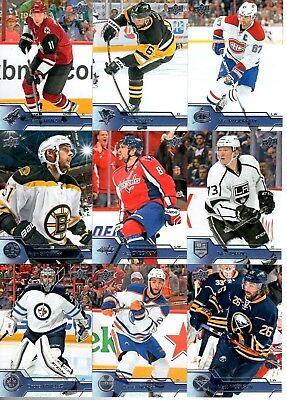 2016-17 Upper Deck Series 1 Hockey Base Cards (1-200) Pick From List