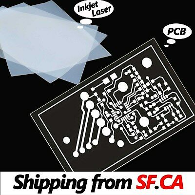 "8.5"" x 11"",Inkjet & Laser Printing Transparency For DIY PCB Film 50 Sheets"