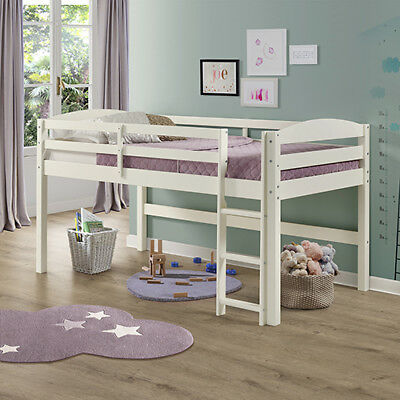 Walker Edison Furniture Co. Solid Wood Low Loft Twin Bed - White - BWSTOLLWH