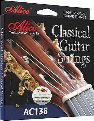 Crystal Nylon Classical Guitar 6 Strings/Set AC138-N Sliver Plated 85/15 Bronze