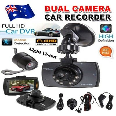 Dual Car Camera True HD 1080P G-sensor Recorder  Cam Dash DVR Video Night Vision