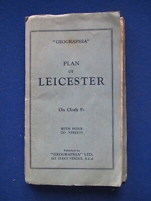 Geographia Official Street Plan map - Leicester   c1962