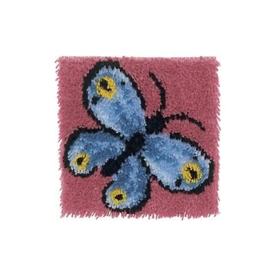 "Latch Hook Kit 12""sq Butterfly - 12inch Wonderart x Spinrite Acrylic Blend 12x12"