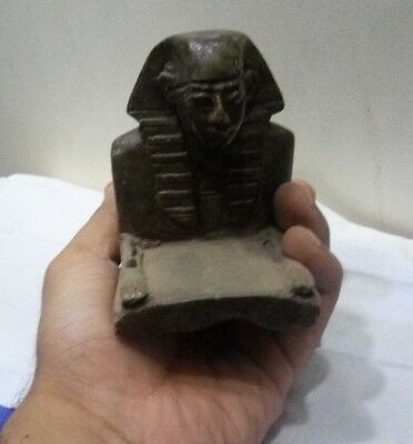 RARE ANCIENT EGYPTIAN ANTIQUE SPHINX Pharaohs Royal Statue Stone BC