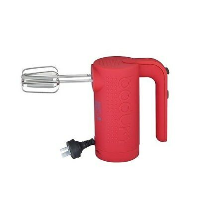 New Bodum Bistro Electric Hand Mixer (Red) Kitchenware Gadgets High Quality