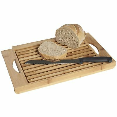 Bamboo Wood Bread Chopping Board - Cut And Serve Bread With Crumb Catcher