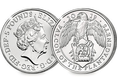 2019 Falcon of the Plantagenets CERTIFIED £5  [Ref H5BUC030]
