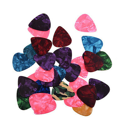 20/40/60/100 Celluloid Colorful Guitar Picks For Acoustic Electric Guitar Bass