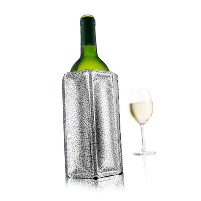 New Vacu Vin Active Cooler Wine (Silver) Barware Ice Cold Jackets  High Quality