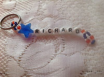 Boys Or Men's Personalized Keychain Or Zipper Pull With The Name Richard-New