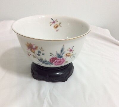 Avon Vintage 1981 Independence Day American Heirloom Porcelain Bowl W Stand