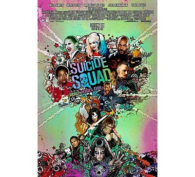 *Rare* Suicide Squad | original DS one sheet movie poster 27x40 INTL | Final