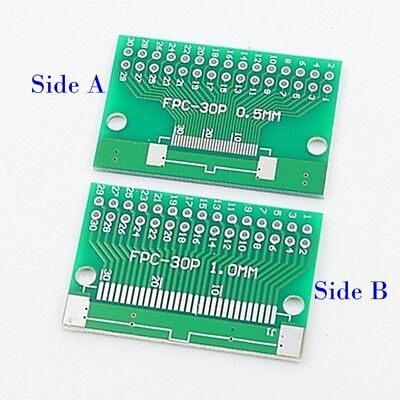 FFC FPC 8 Pin 0.5mm 1.0mm to DIP 2.54mm PCB Converter Board Double Side Adapter