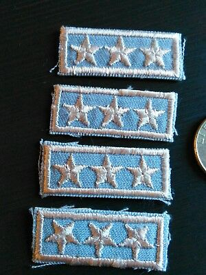 Lot Of 4 Vintage Bsa 3 Star National President's Award Patches Super Rare 1970's