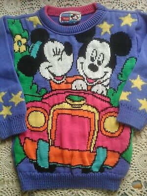 Mickey's Stuff By JetSet Disney Vintage Mikey Minnie   Mouse Girls Sweater Small