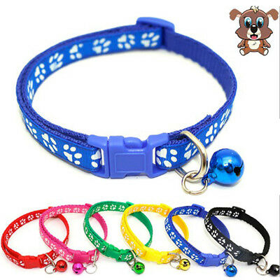 Small Dog Cat Bell Collar Buckle Neck Strap Puppy Pet Safety Necklace Adjustable